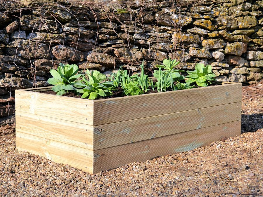 2ft x 4ft Wooden Raised Bed Kit (With images) Diy raised