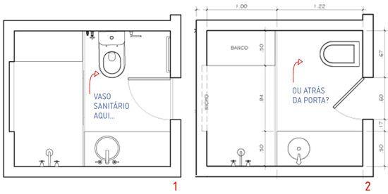 planta para banheiros  Arquitetura  Pinterest  Banheiro pequeno, Banheiros -> Banheiro Com Banheira E Chuveiro Planta