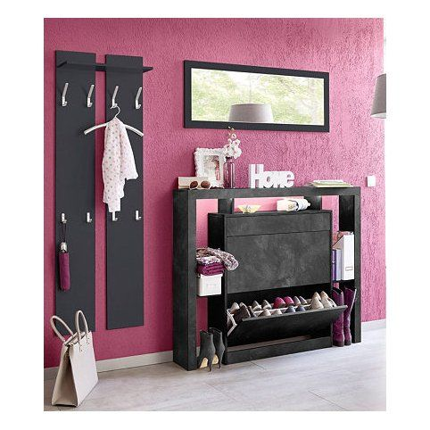 ensemble vestiaire miroir meuble chaussures 24 paires porte manteaux 3suisses. Black Bedroom Furniture Sets. Home Design Ideas