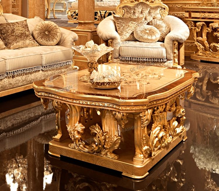 Oe Fashion New Arrival Living Room Furniture Wooden Carving Luxury
