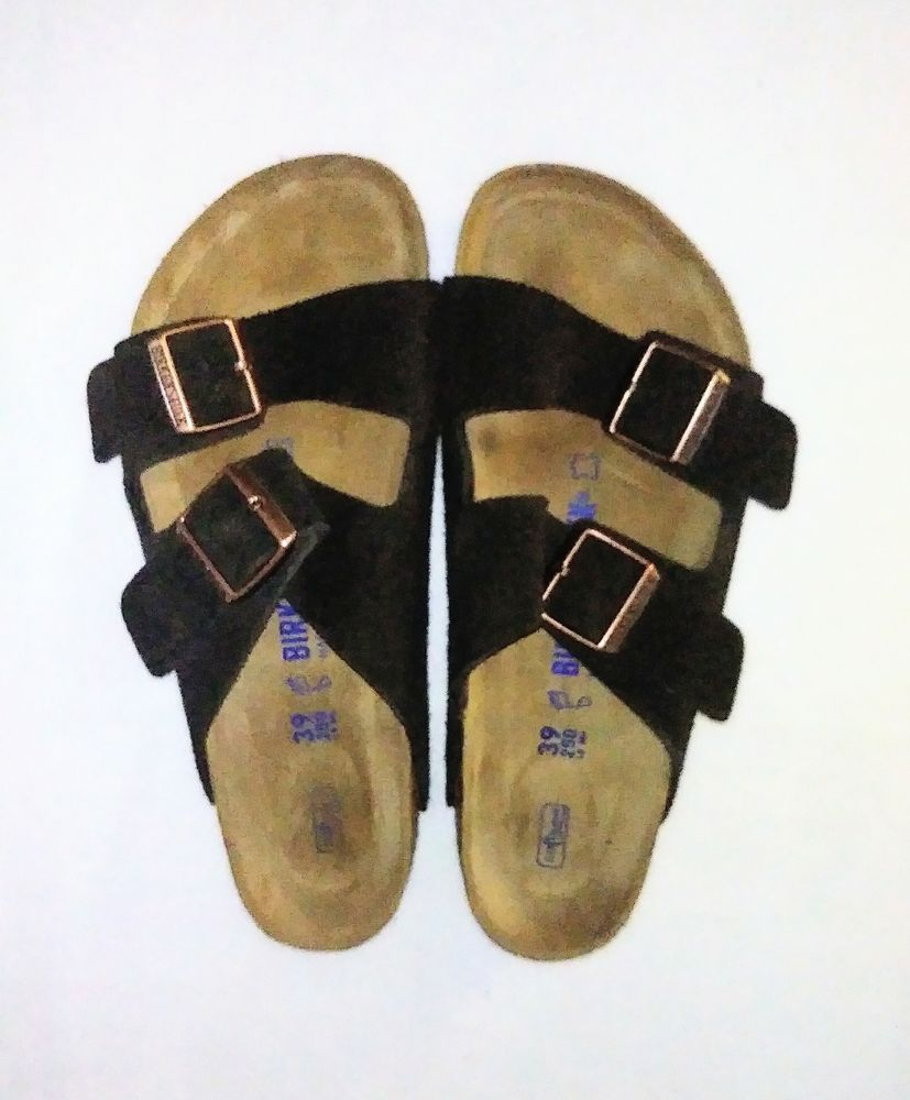 f1db0a81c82 Birkenstock Arizona Suede Leather Mocha Sandals Flats US W-8.M-6 --EUR-39   Birkenstock  StrapSandals