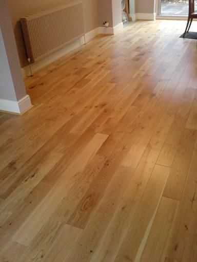 Unusual solid wood floor that fits together like a laminate. Extremely easy  to fit!
