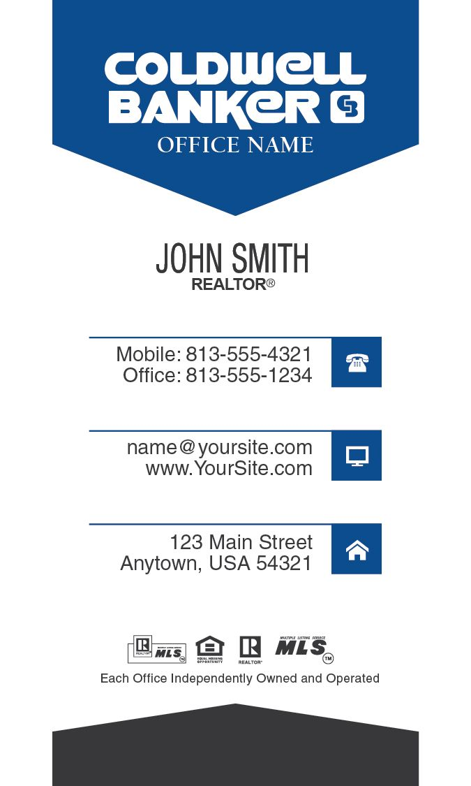 Simple vertical coldwell banker realtor business card template simple vertical coldwell banker realtor business card template design for 2015 cheaphphosting Choice Image