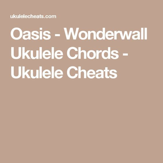 Luxury Oasis Wonderwall Piano Chords Mold - Basic Guitar Chords For ...