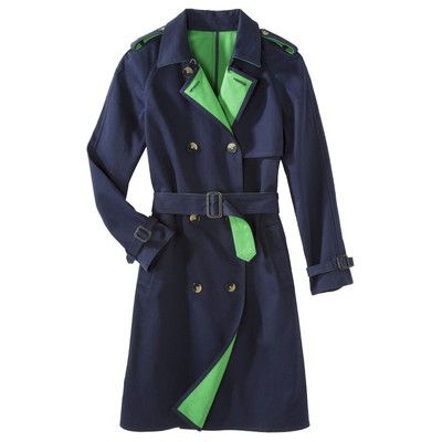 1064fdf2422b 3.1 Phillip Lim for Target® Trench Coat Navy Blue and Emerald Green XS    eBay