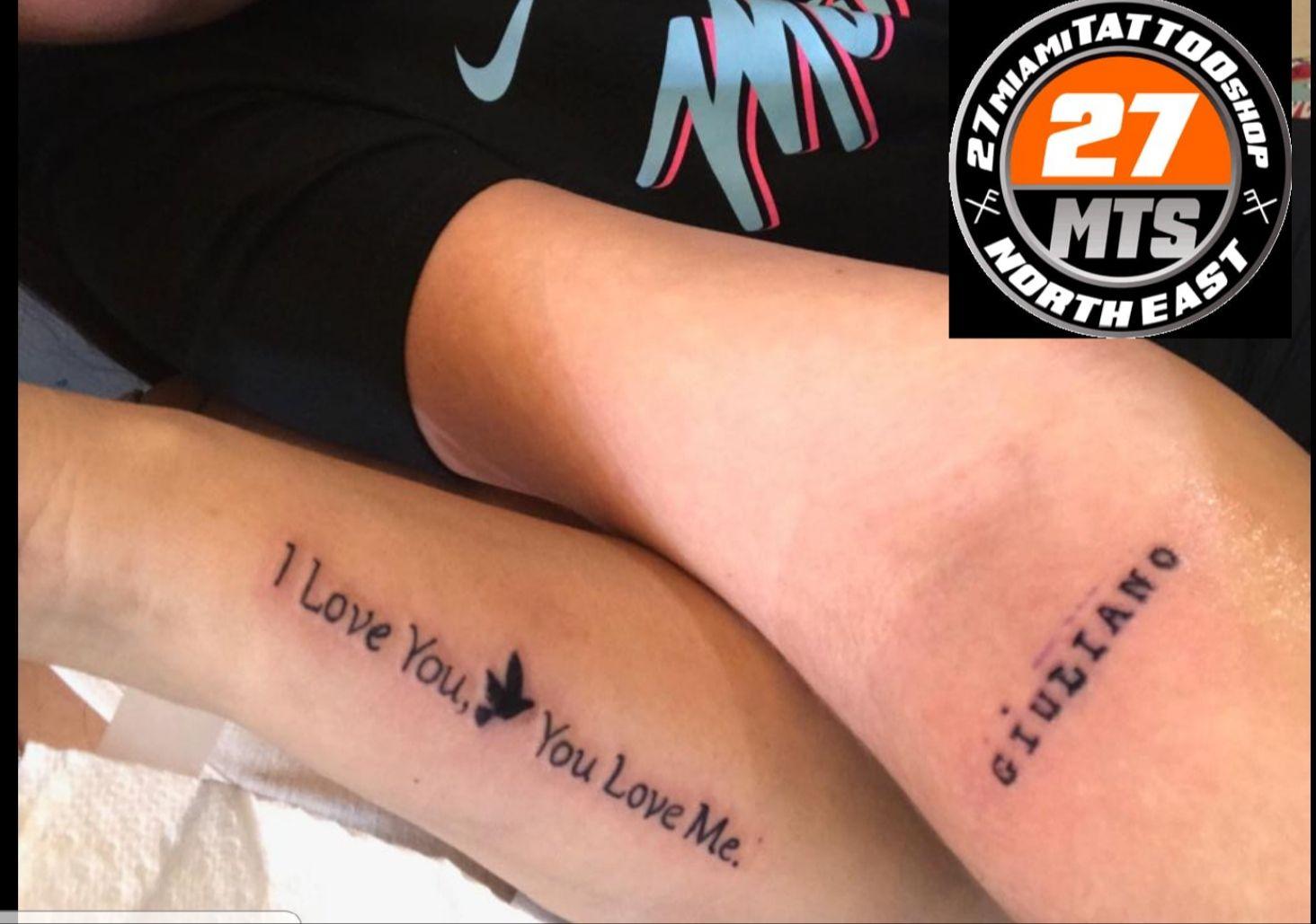 I love you tattoo near me tattoo shop miami tattoo