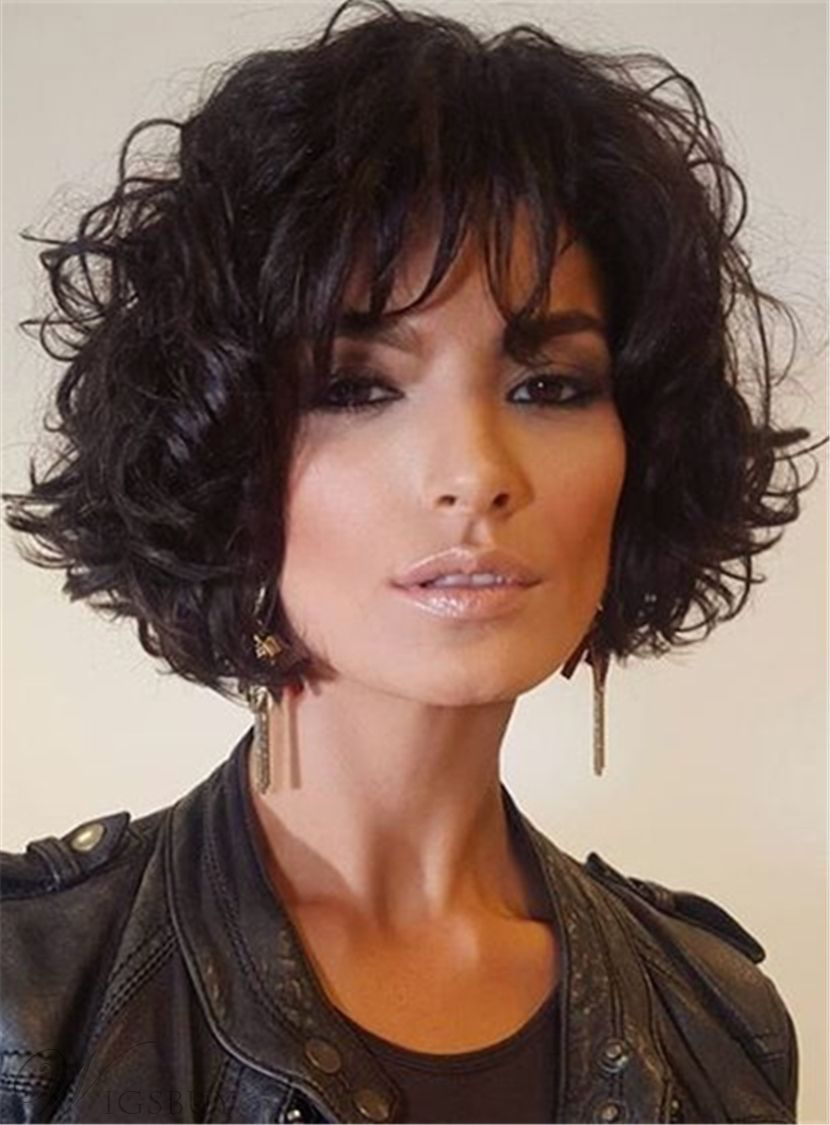 cheap short loose pixie hairstyle soft synthetic hair jerry