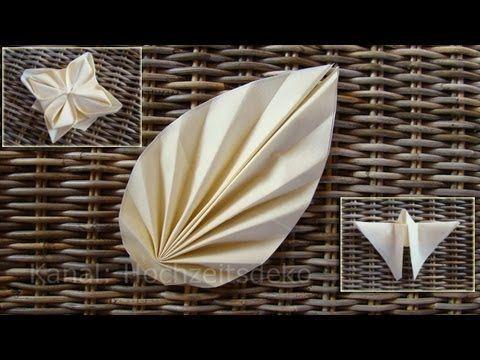 Servietten falten: 3 Anleitungen - YouTube #foldingnapkins Servietten falten: 3 Anleitungen - YouTube #serviettenfalteneinfach