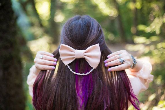 Mother of Pearl hair bow cute hair bow by HappyRainbowUnicorns
