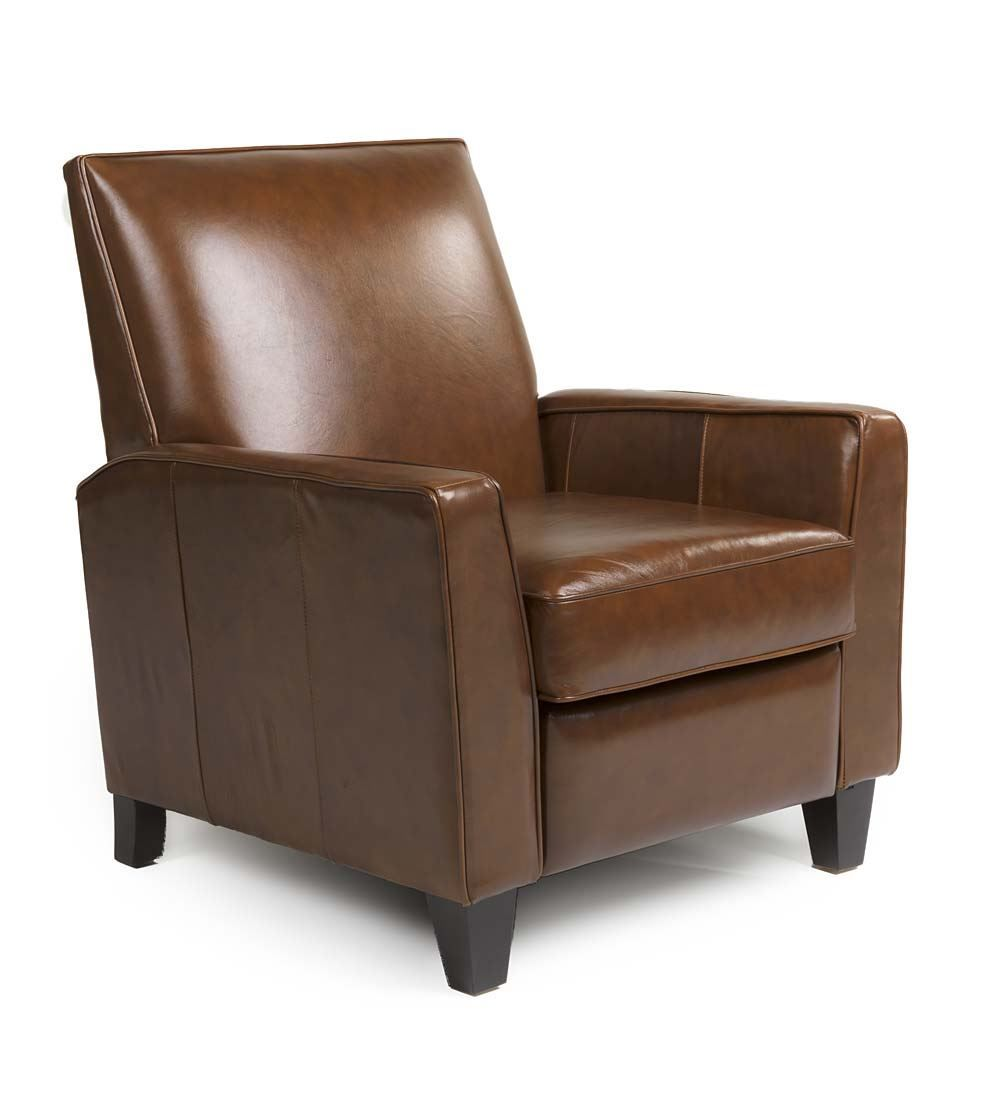 Woodrow Genuine Leather Recliner Family Room Furniture Leather Recliner Recliner Leather Recliner Chair