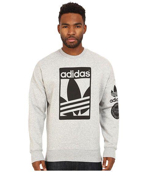 Mens sweatshirt adidas street graphic crew sweatshirt