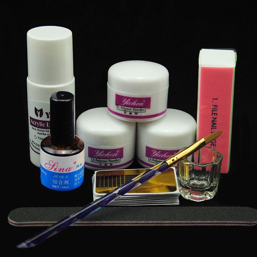 Acrylic Powder Liquid Gl Cup Nail Art Tips Uv Primer Brush Block Tool Kit Set
