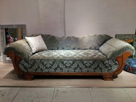 Rare French Vintage Art Deco Sofa Chaise Longue From By Zavadi 4500 00 Art Deco Sofa Art Deco Home Art Deco Furniture