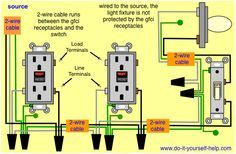 gfci wiring with unprotected switch and light e l ectric