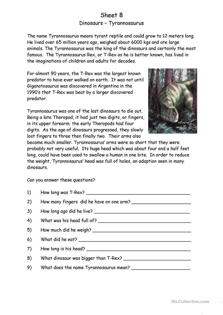 Dinosaurs Worksheet Free Esl Printable Worksheets Made By Teachers Dinosaur Worksheets Dinosaur Unit Study Printable Worksheets [ 1079 x 763 Pixel ]