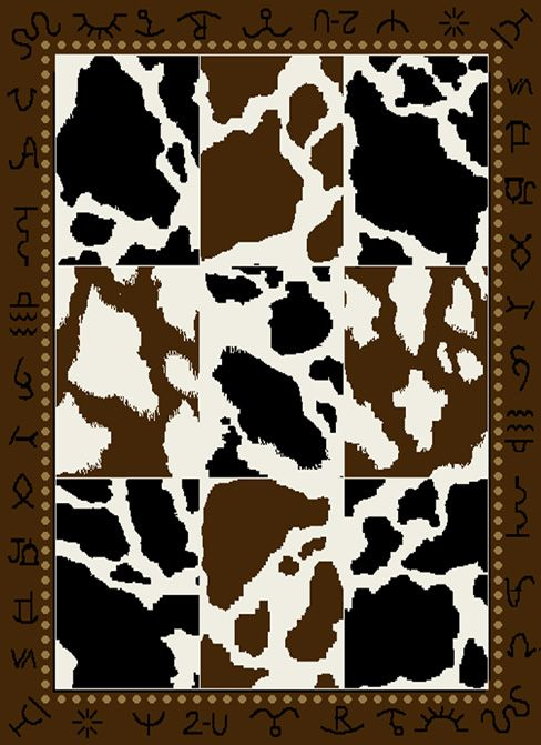 Add Western Style To Your Home With This Cowhide Print Area