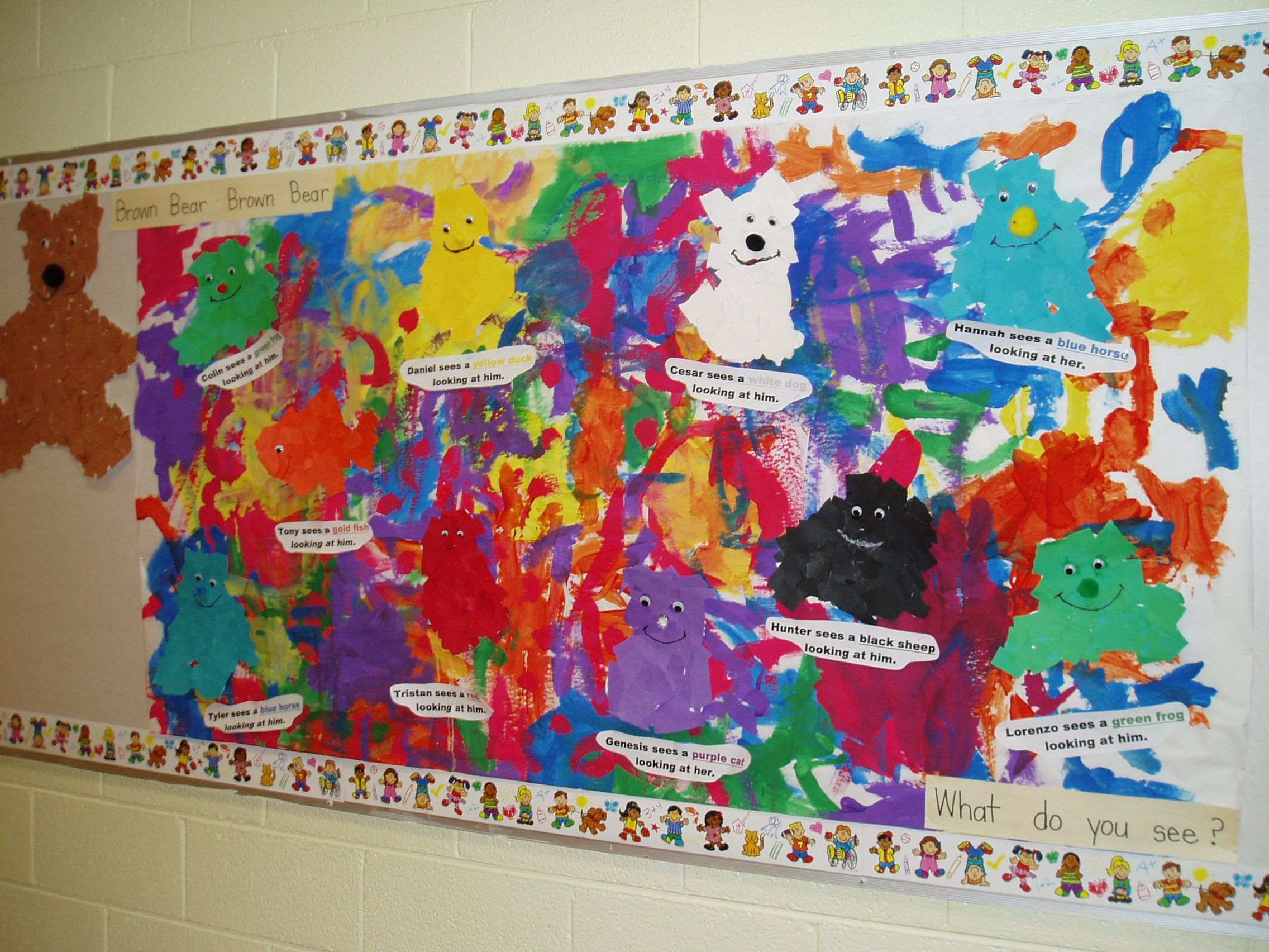 Brown Bear Brown Bear What Do You See Blue Horse School