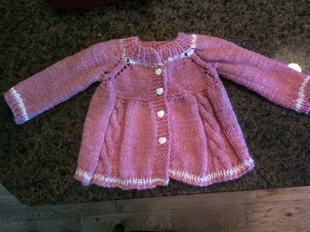 Payton's Pink Cable Cardigan