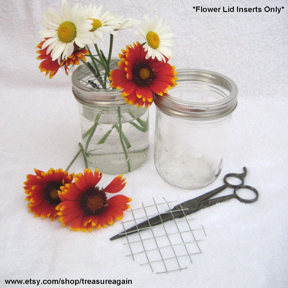 Flower Frog Lid Inserts DIY Flower Mason Jar Lids, DIY Wedding ...