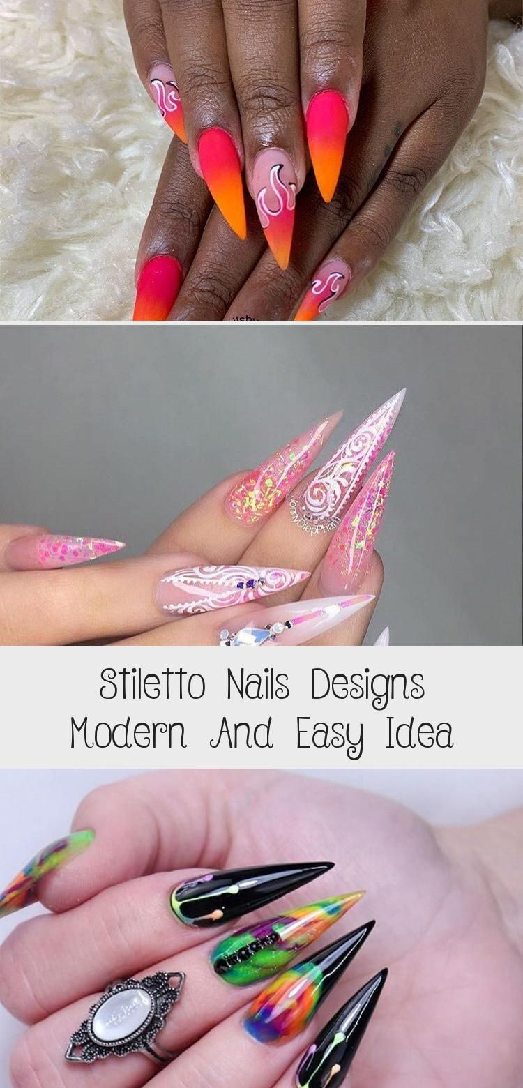 Photo of Stiletto Nails Designs Modern And Easy Idea – MakeUp