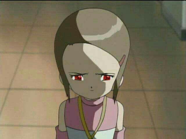 I had this special made kari with the uchiha eyes from naruto