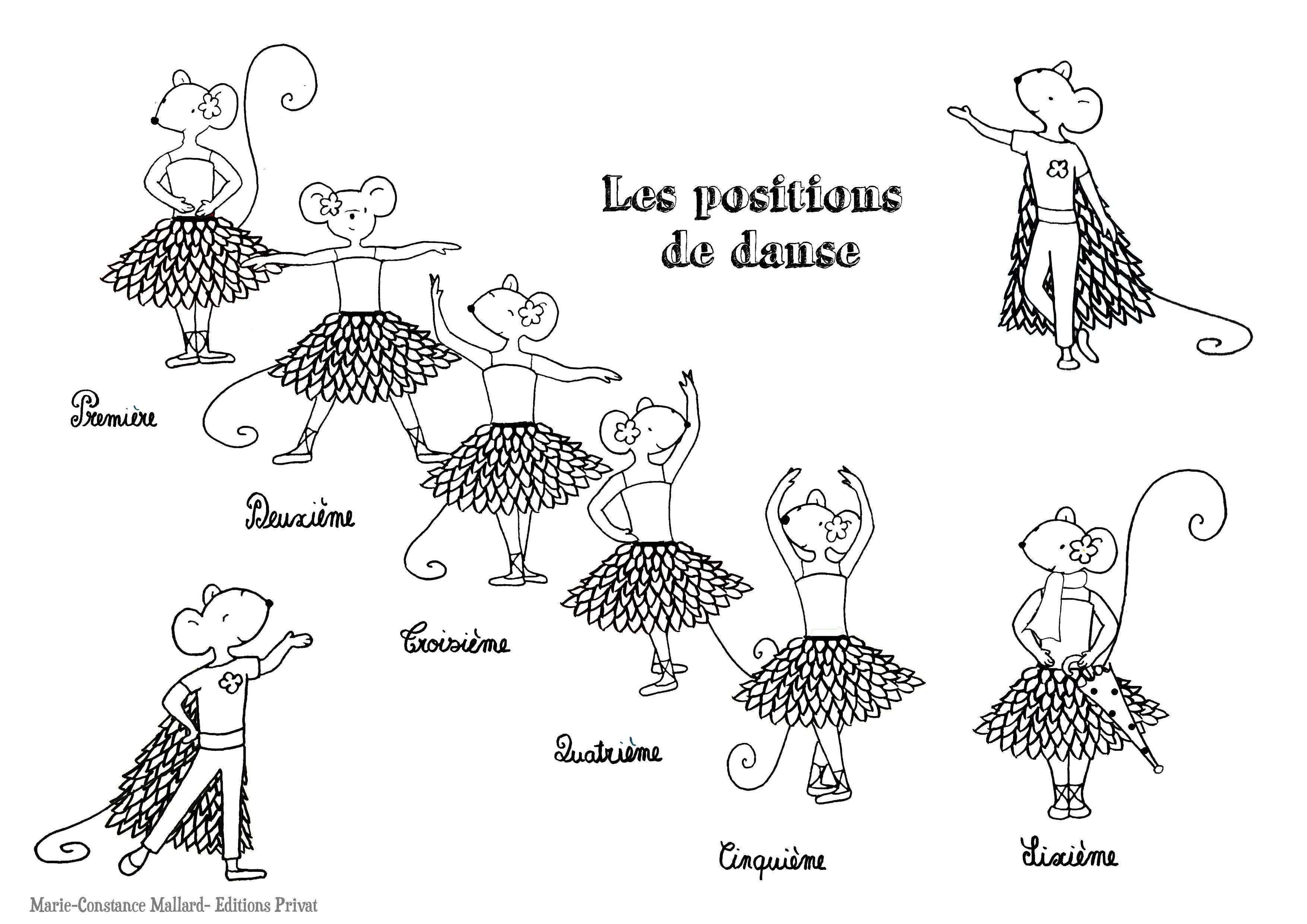 Coloriage Anti Stress Danse.Coloriage Positions Danse Classique Violette Mirgue