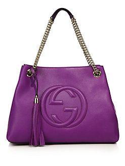 Gucci - Soho Leather Shoulder Bag...love the color!