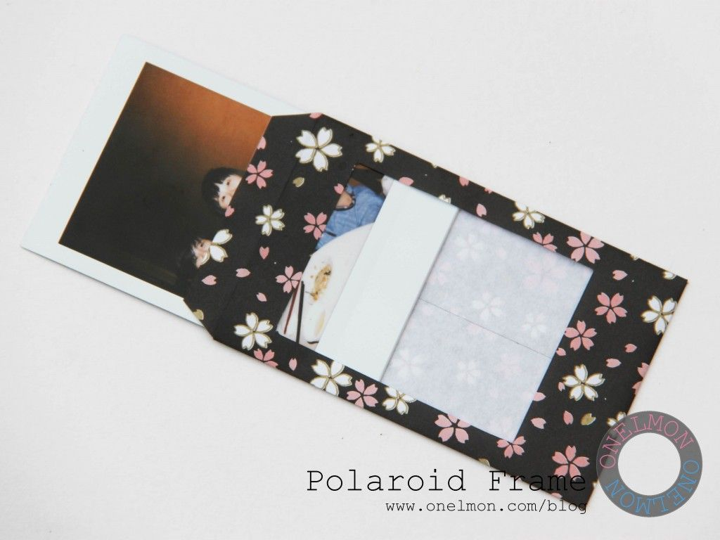 DIY Paper Polaroid Frame | things to share | Polaroid frame ...