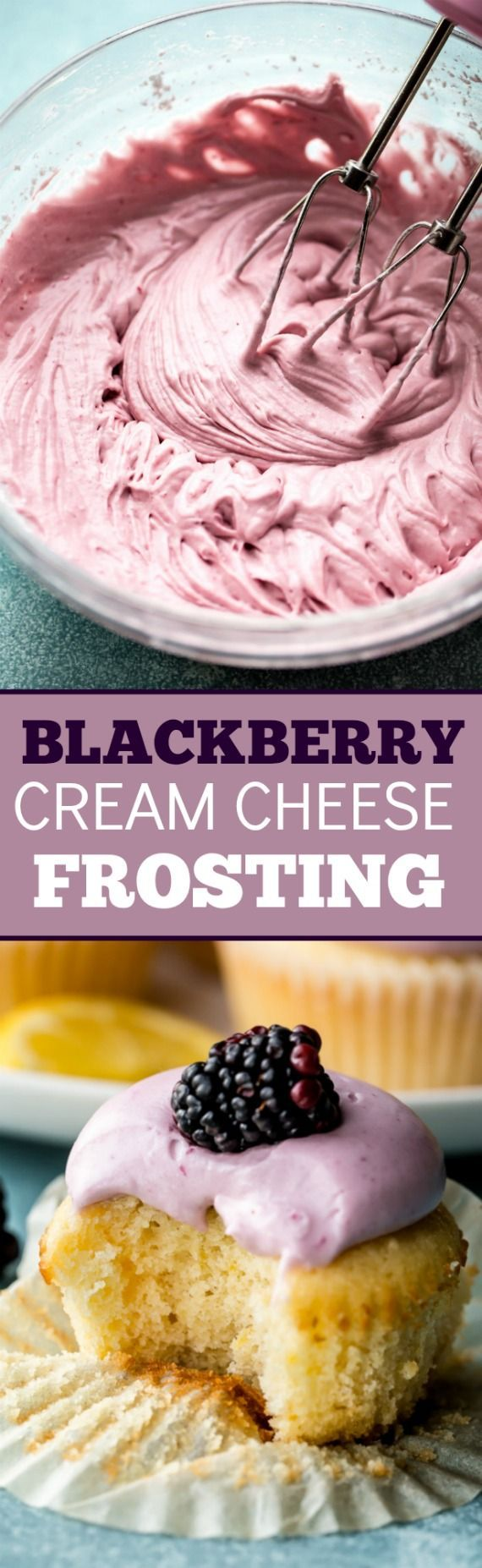 Creamy, silky, and smooth blackberry cream cheese frosting made from blackberry ... Creamy, silky, and smooth blackberry cream cheese frosting made from blackberry ...