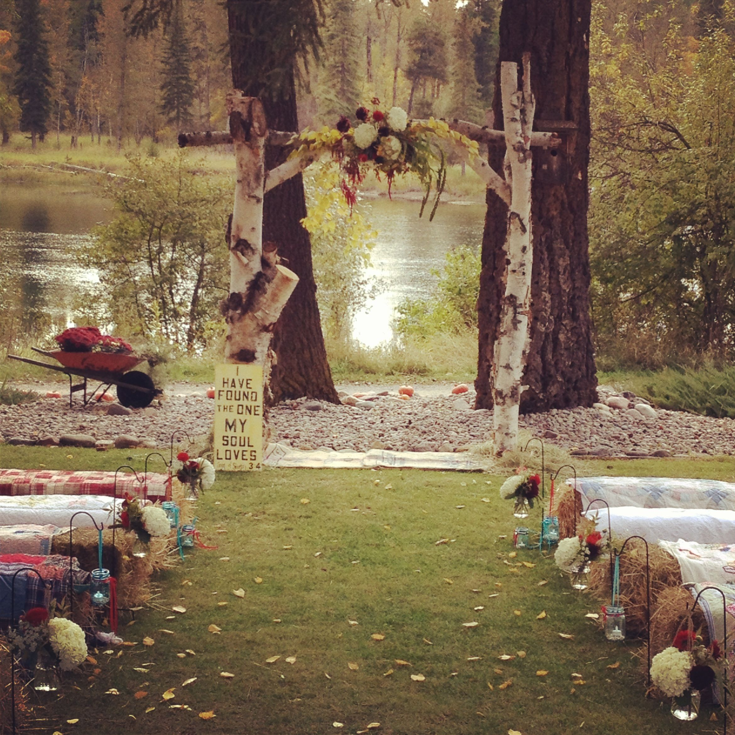 Country Rustic Wedding Altars: Fall Country Wedding Best Photos
