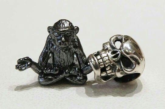 Ohm beads,  scimmia nera in edizione limitata,  beads per bracciali componibili, compatibili con pandora, trollbeads ecc Facebook: pianeta beads  sito web: www.gold-jewels-italy.com