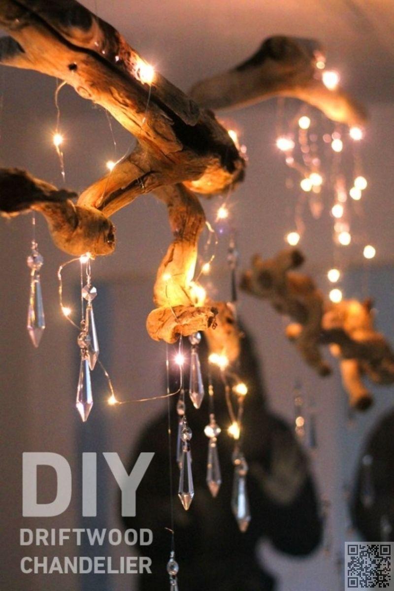 Strand badezimmer dekor diy  diy driftwood chandelier   driftwood crafts to give a