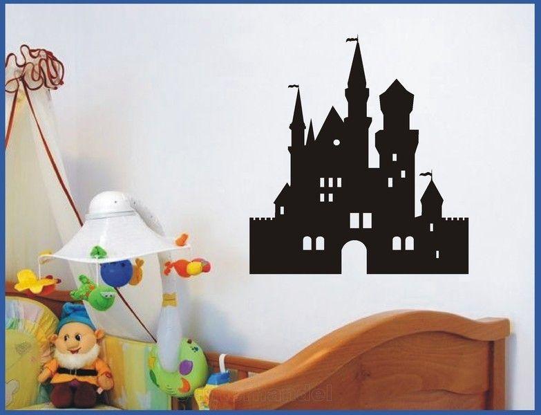 Wandtattoo Aufkleber Kinderzimmer Schloss Burg von M&M Wood ...