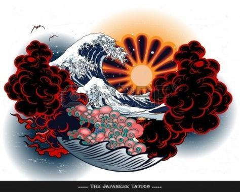 Japanese Tattoo landscape -  Japanese Tattoo landscape Stock Vector – 10637164  - #EarPiercings #japanese #JapaneseTattoos #landscape #tattoo