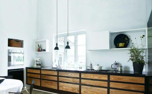Küchengestaltung Ideen küchengestaltung ideen arbeitsplatte pendelleuchten fenster küche