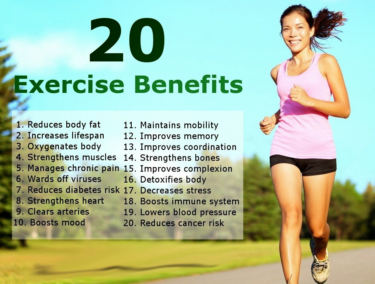20 Exercise Benefits