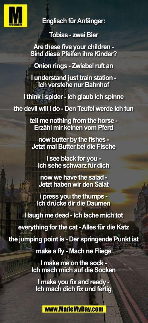 Englisch Fur Fortgeschrittene Witzige Spruche Lustige Spruche Spruche Humor