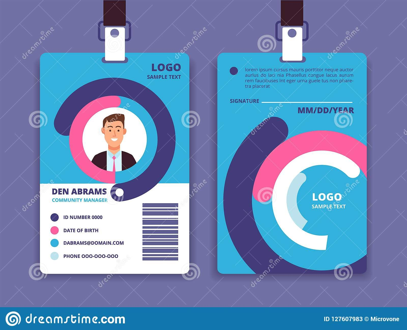 Fcad49a sample employee id card template employee template