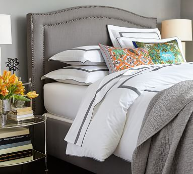 Tamsen Curved Upholstered Bed & Headboard #potterybarn | HOUSE DECOR ...
