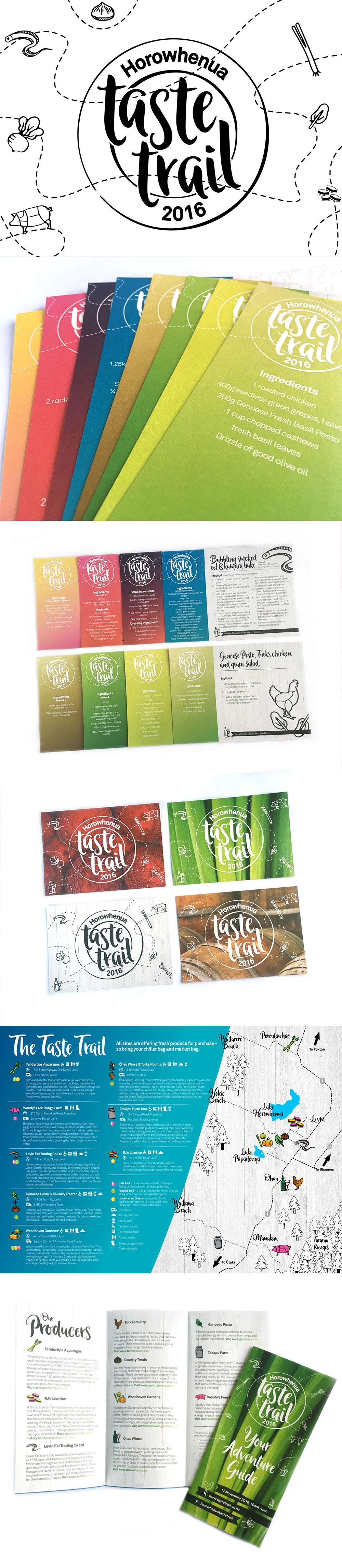 Horowhenua Taste Trail Branding Promotional Material