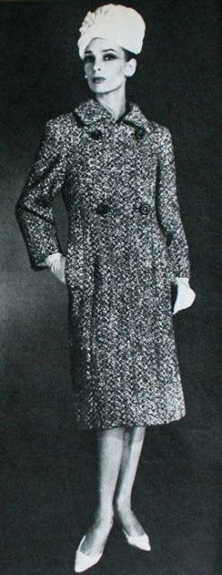 Tweed coat Pierre Balmain, 1962