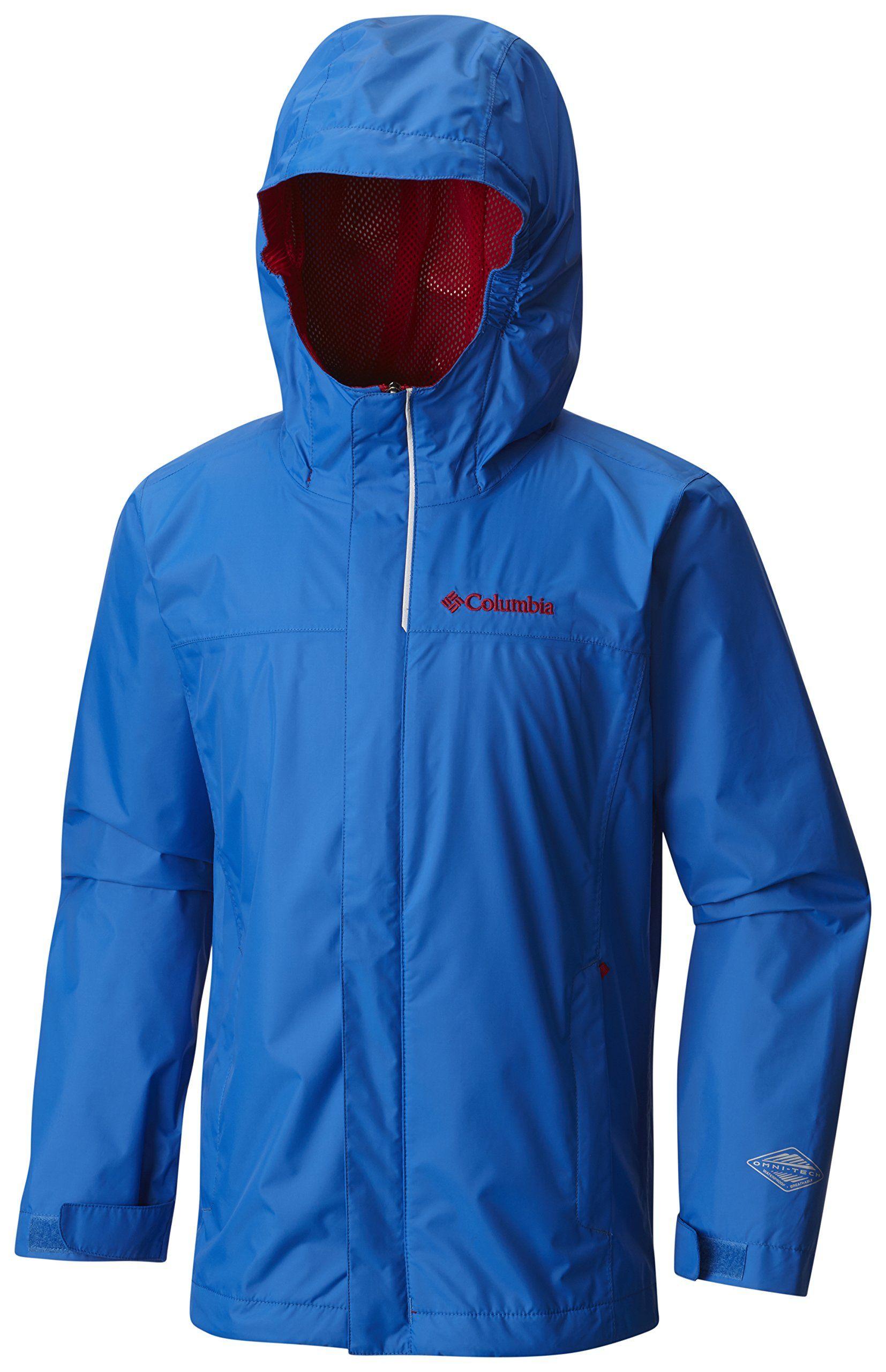 8fc264cc3 Columbia Big Boys' Watertight Jacket, Super Blue, Medium. Omni-tech  waterproof