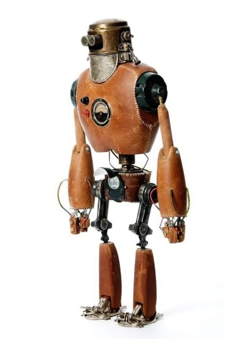 mini leather robot