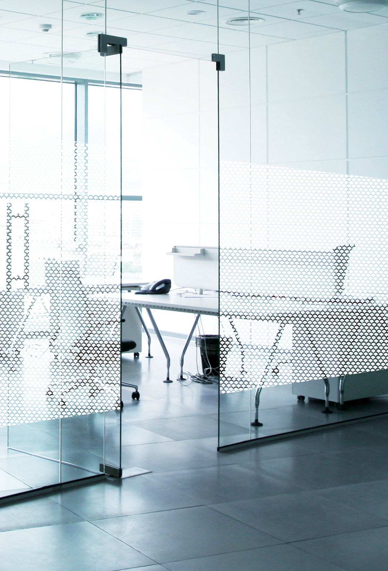 This Decorative Window Film Featuring A Frosted Fish Scale Effect Pattern Allows You To Personalise Your Windows And Glass Surfaces Adding Cloison Design Film