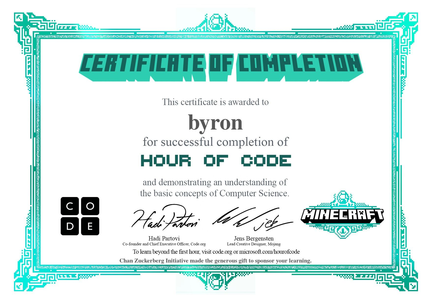 science computer certificate learn class code