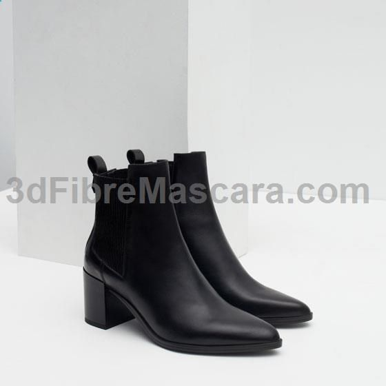 Image 3 of BLOCK HEEL LEATHER ANKLE BOOTS WITH STRETCH DETAIL from Zara #highheels #sexy #ladies #women #ladyshoes #shoes #lush #smooth #fashion #feet #legs #glamour