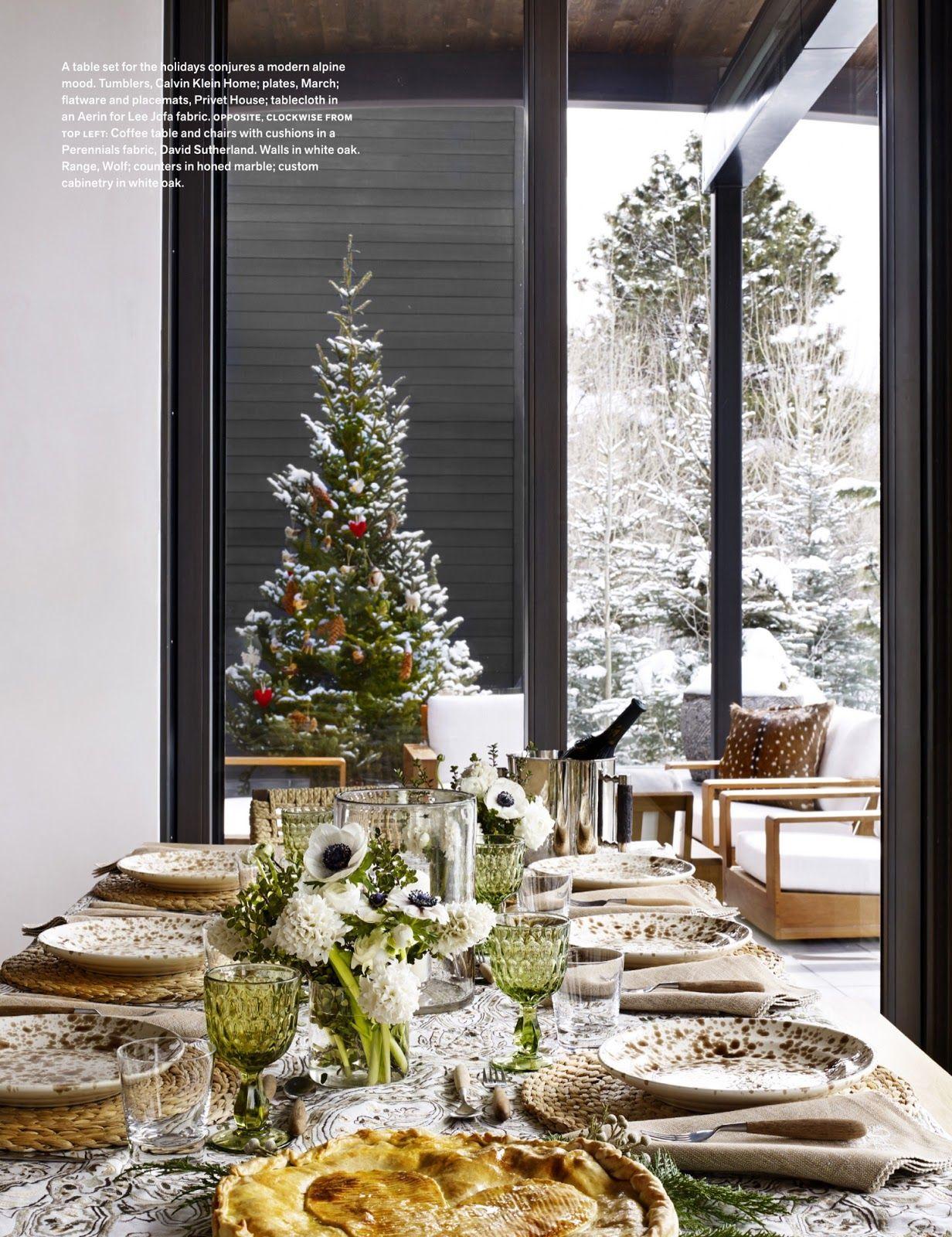 Aerin Lauder's Aspen Home  Vacation Homes  Pinterest  Aspen Classy Aspen Home Dining Room Furniture Design Inspiration