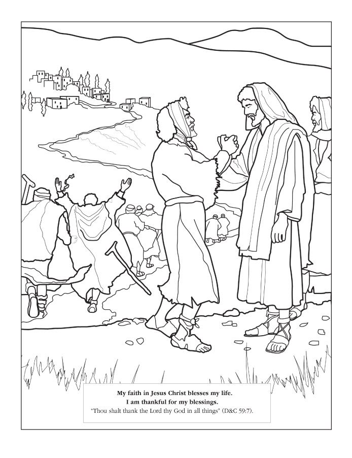 Coloring Page My Faith In Jesus Christ Blesses My Life I Am