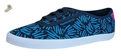 Reebok Classic NC Plimsole Womens Trainers   Shoes - Blue-Blue-6 - Reebok b4412cc9e