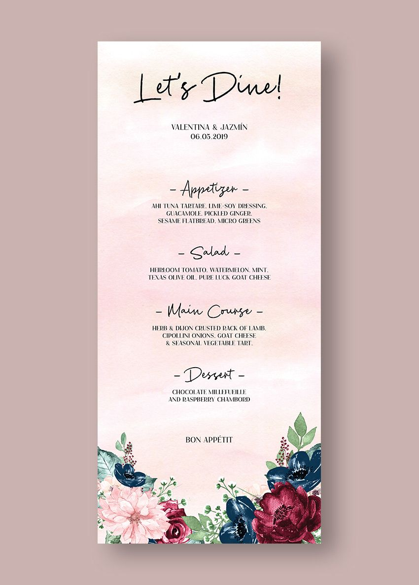 Wedding Invitation Indesign Luxury How to Make A Wedding Menu
